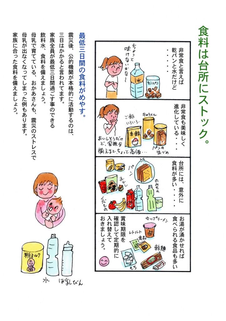 地震のための食料