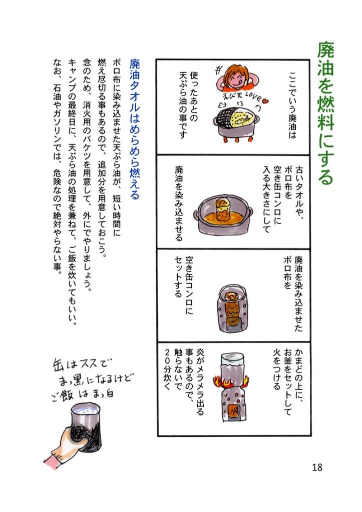 天ぷら油でご飯を炊く