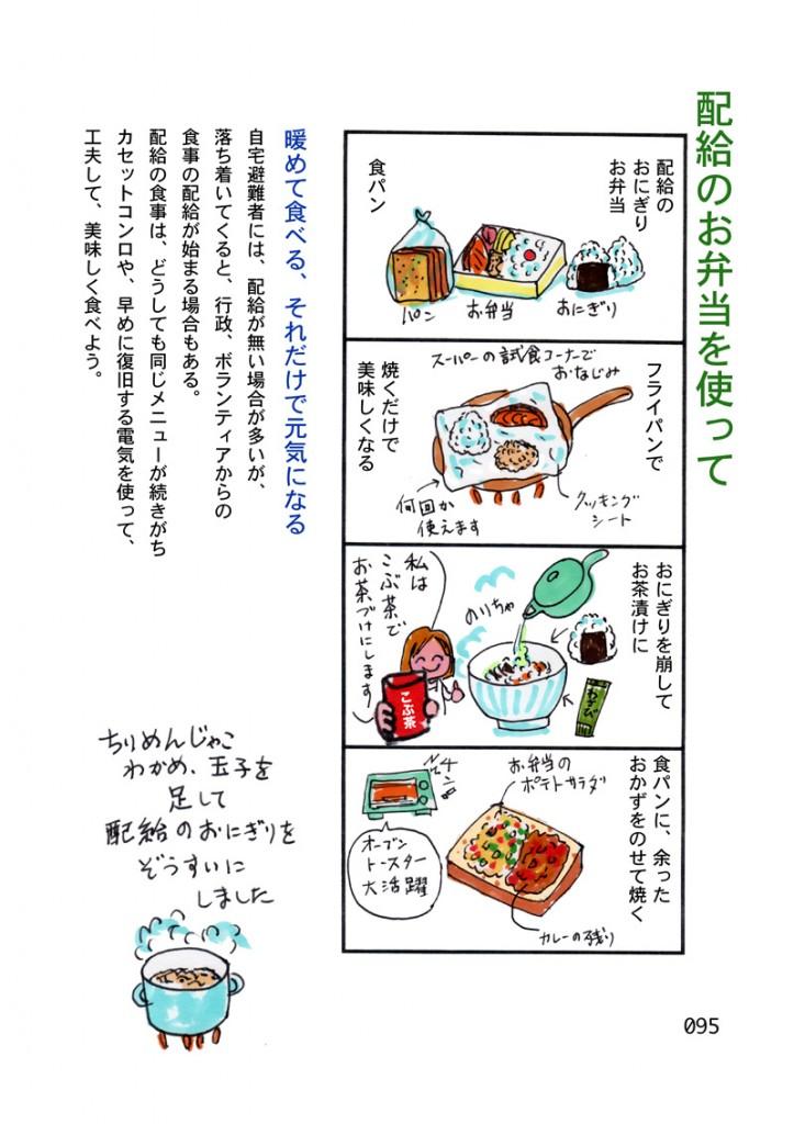 配給のお弁当の食べ方